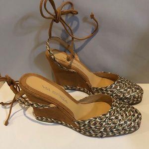 Via Spiga woven raffia sandals